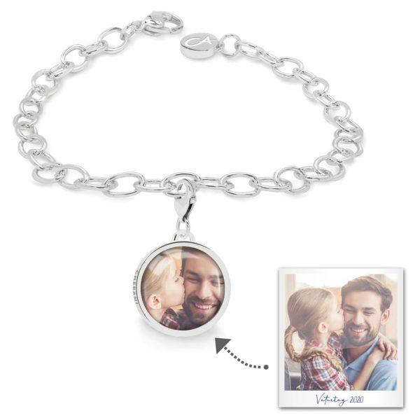 Charmarmband mit einem Foto personalisiert