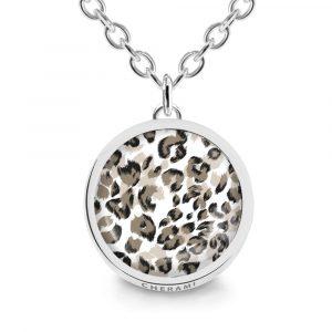 Halskette mit einem Leoprint, Animalprint oder mit Leopardmuster