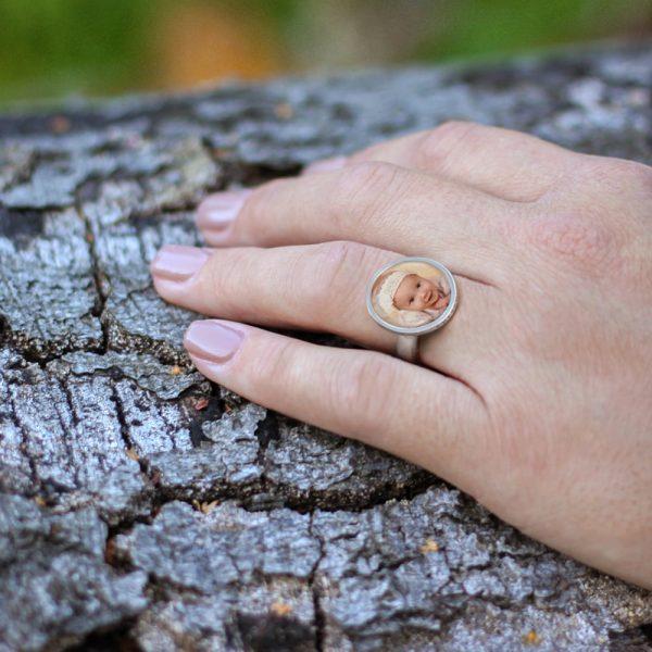 Schmuck mit einem Foto personalisiert, Ring von CherAmi