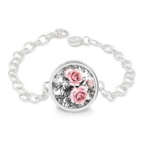 Armband für Damen mit einem blumigen Rosenmuster