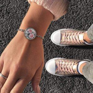 Floralprint Armband mit Blumenmuster