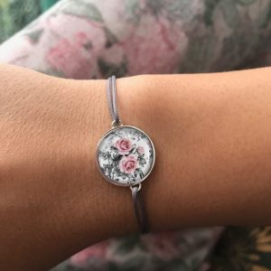 Armband mit Blumenmuster, Freundschaftsarmband Florales Muster