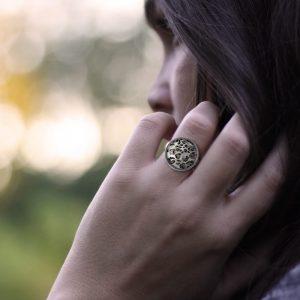 Ring mit Leoprint, Animalprint Ring