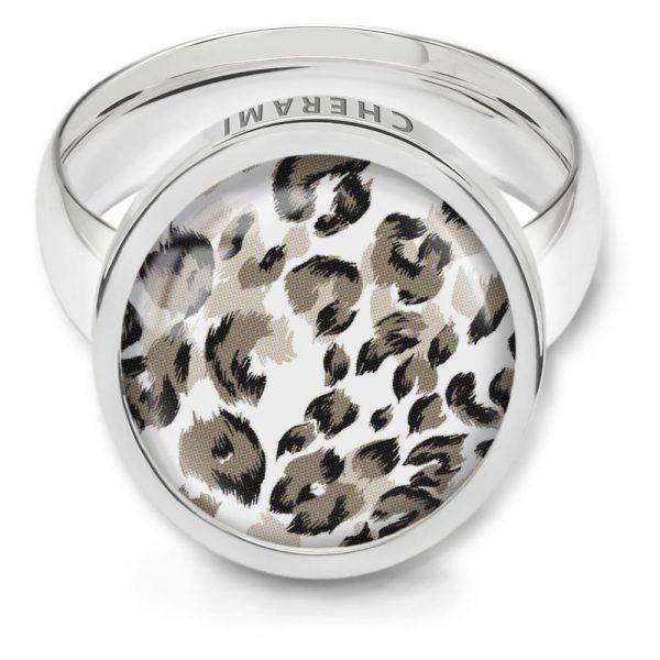 Ring mit Leomuster, Animalprint Ring