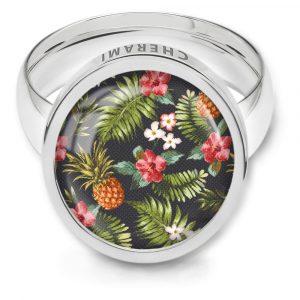 Ring für Damen im sommerlichen Palmenmuster