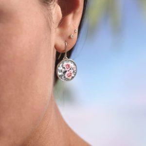 Ohrringe Florales Muster, Blumenprint