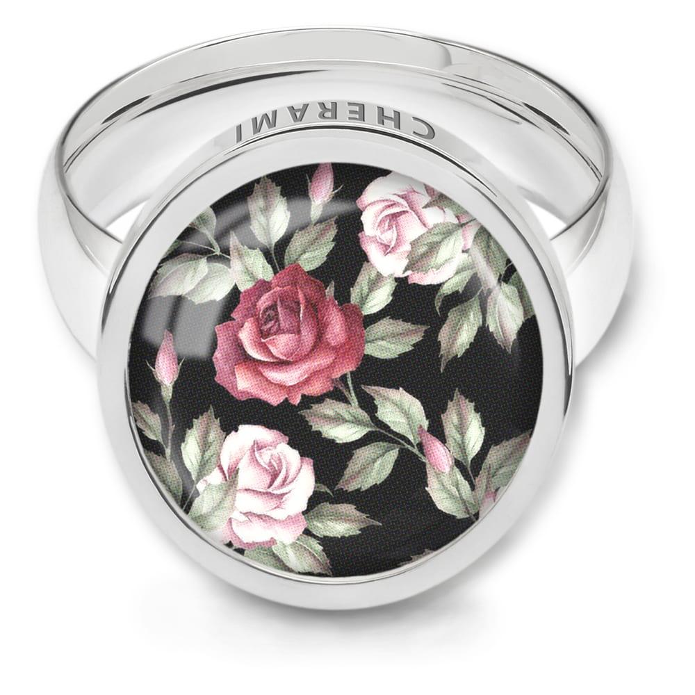 Ring für Damen mit retro Rosen, Blumenmuster