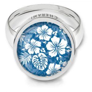 Ring für Damen, Schmuck mit Floral Print