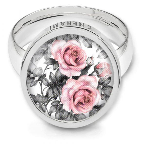 Ring mit einem blumigen muster, flowerprint
