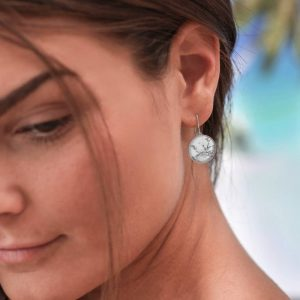 Ohrringe für Sie, Ohrringe im Marble-Look von Cherami Schmuck