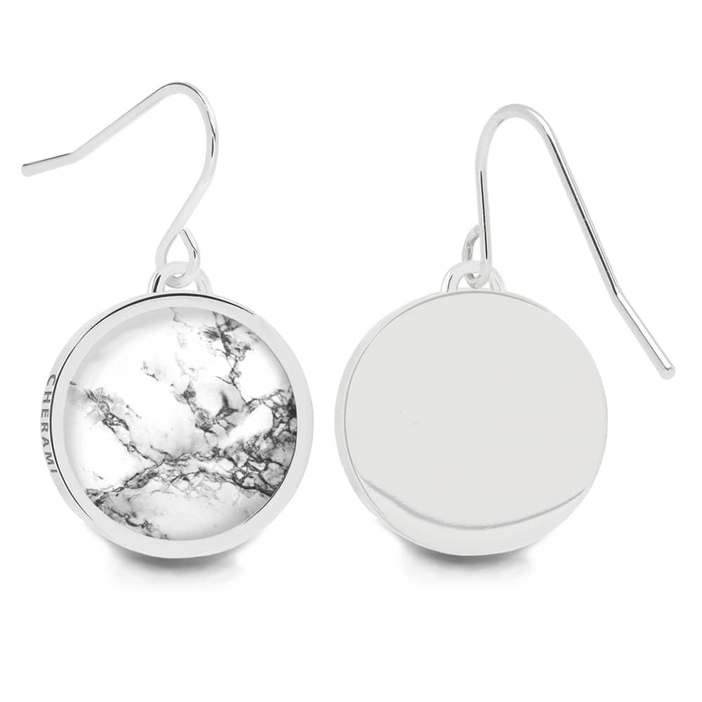 Ohrringe mit Marmormuster, Ohrhänger für Damen von Cherami Schmuck