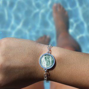 Armband für Sie, Ohrringe im Marble-Look von Cherami Schmuck