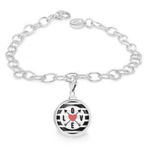 Armband mit einem Charm, Charmarmband mit einem Kompass, Kompassanhänger