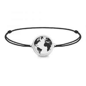 Armband mit Nylonschnur und Weltkarte, schlichtes Armbändchen