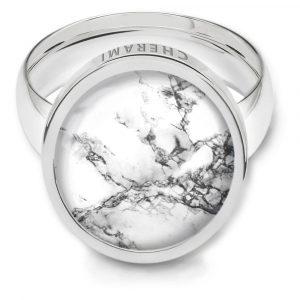 Marmor Look, Ring mit Marmor, Damenring
